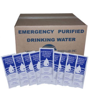 Case of 96 purified drinking water pouches